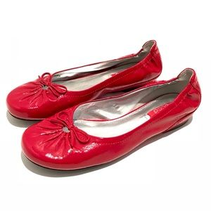 Ecco patent leather flats